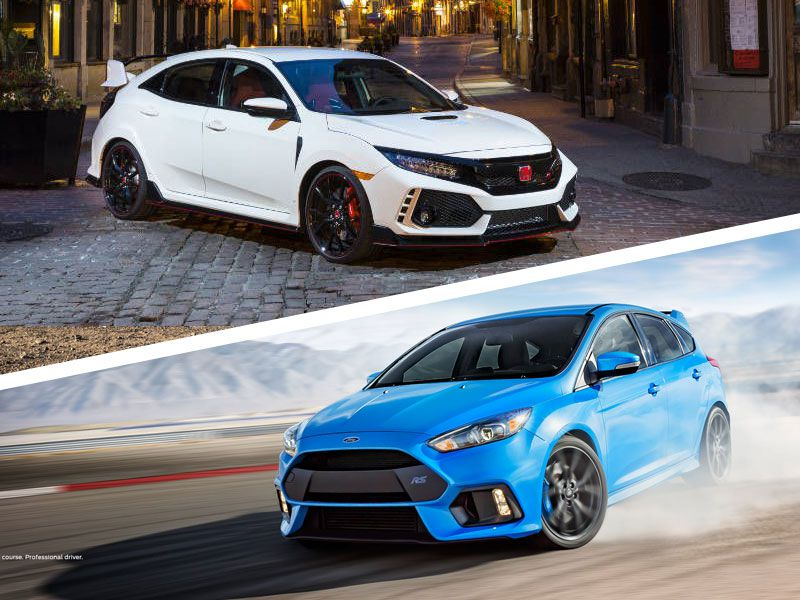 Honda Civic Type R vs Ford Focus RS