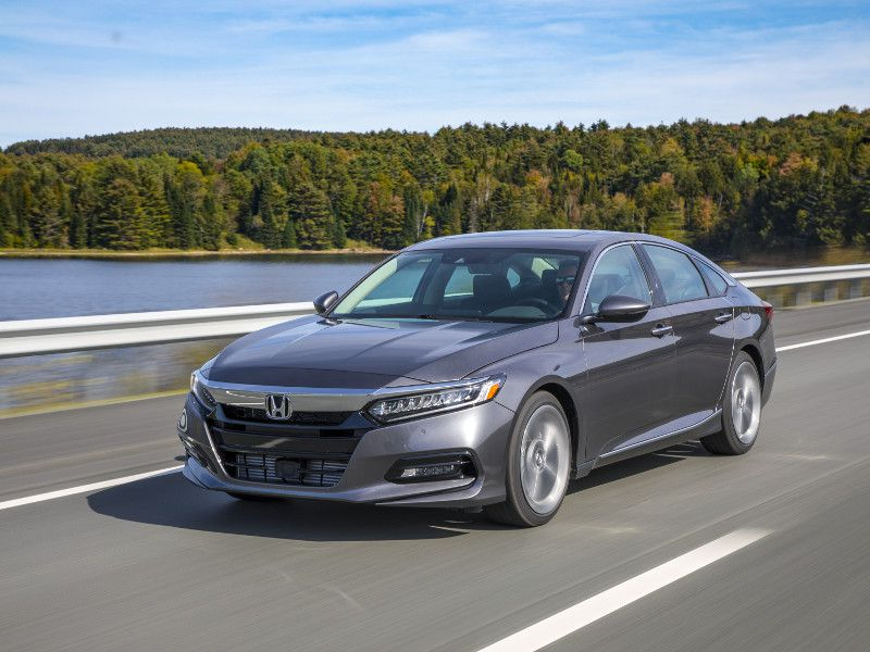 2018 Honda Accord Touring silver driving
