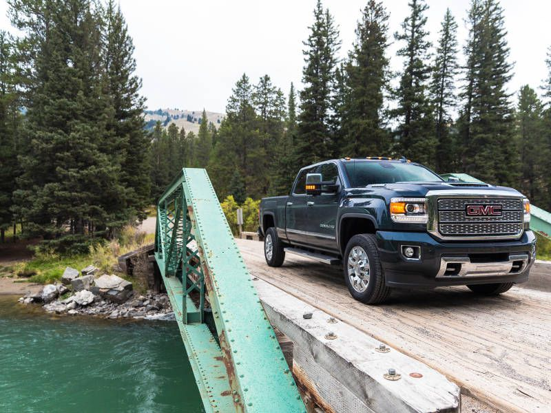 2018 GMC Sierra Denali 2500HD front driving hero