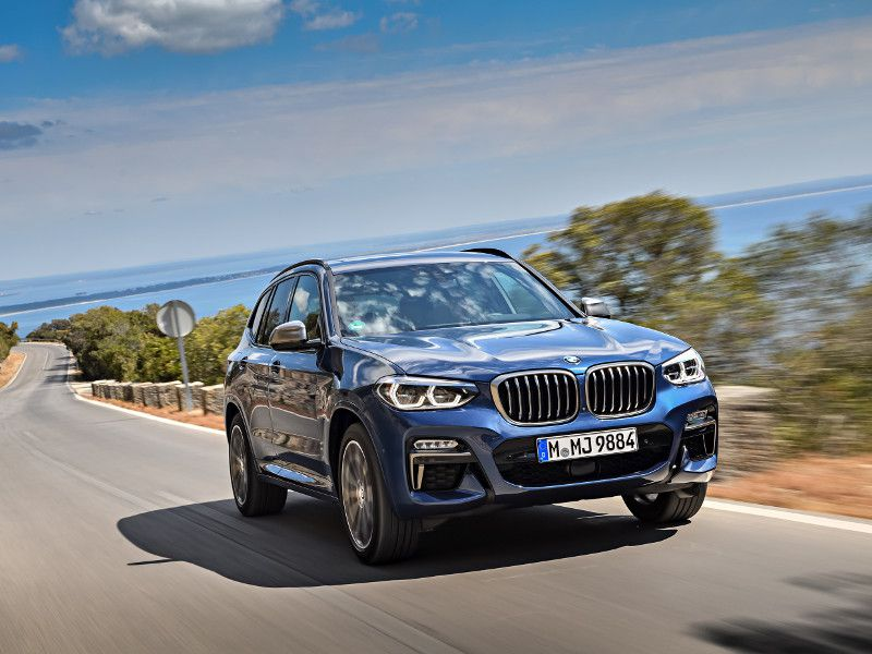 2018 BMW X3 M40i blue driving