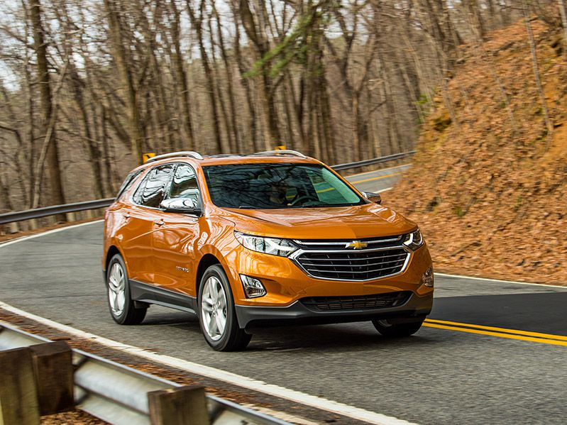 2018 Chevrolet Equinox front three quarter driving road