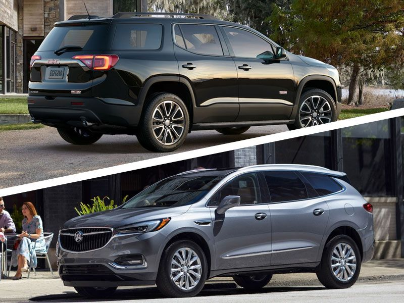 2018 buick enclave vs 2018 gmc acadia which is best. Black Bedroom Furniture Sets. Home Design Ideas