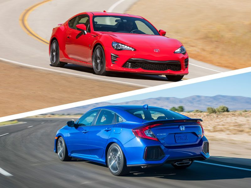 2018 Toyota 86 Vs 2018 Honda Civic Si Which Is Best Autobytel Com