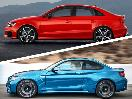 Audi RS3 vs BMW M2 exterior profile