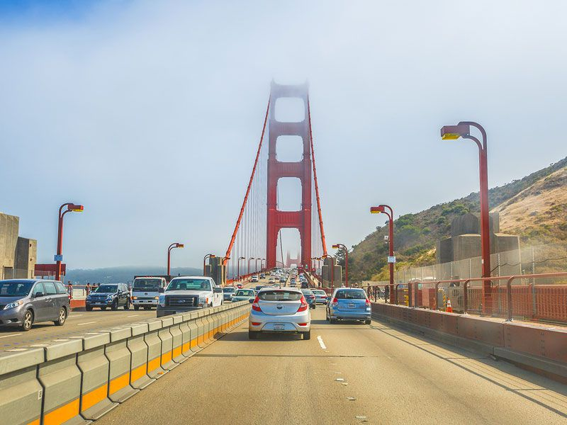 bigstock driving in san francisco golden gate bridge