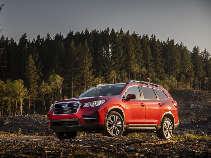 2019 Subaru Ascent front quarter red off road