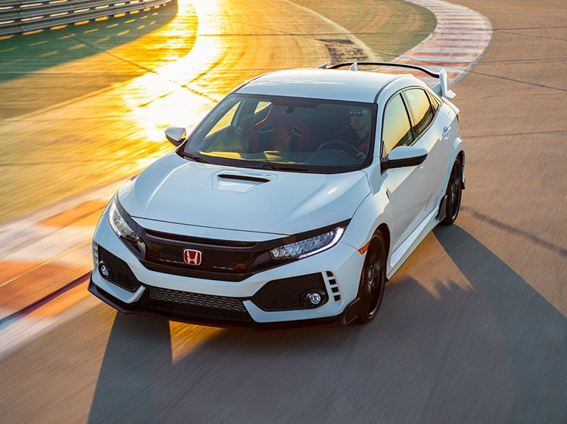 2018 Honda Civic Type R front three quarter top