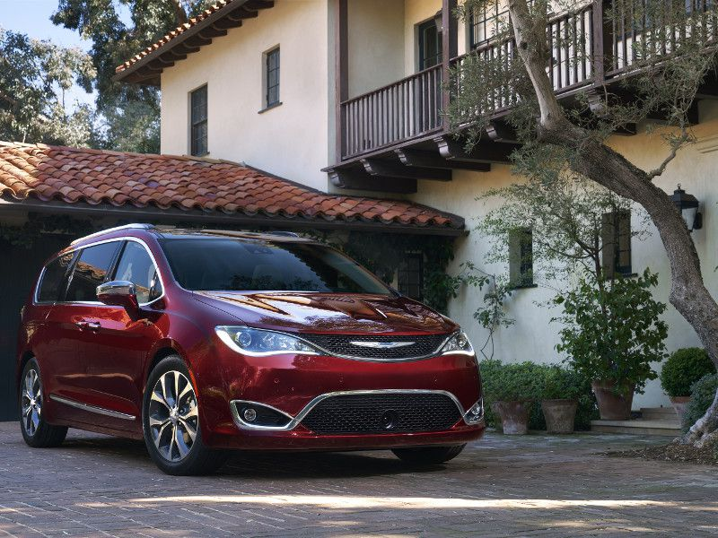 2018 Chrysler Pacifica red parked