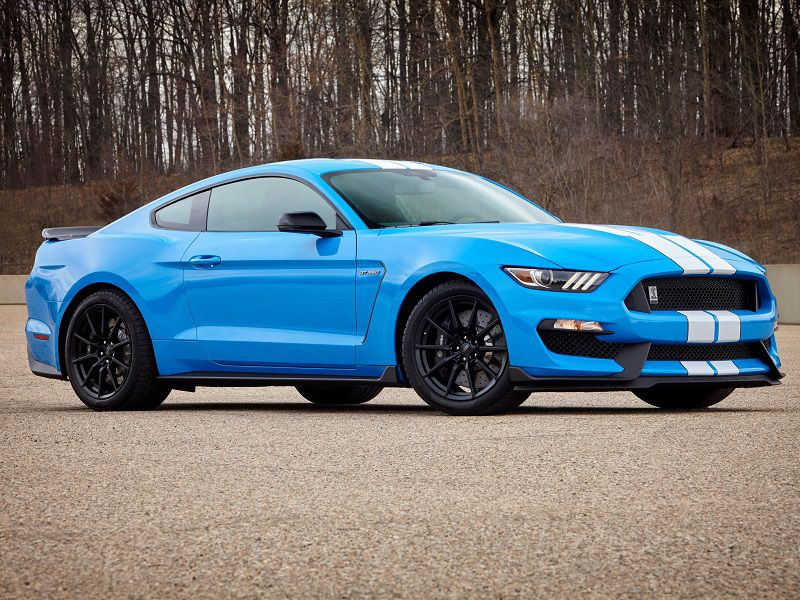 2017 Ford Mustang GT350 Blue Passenger Side Parked