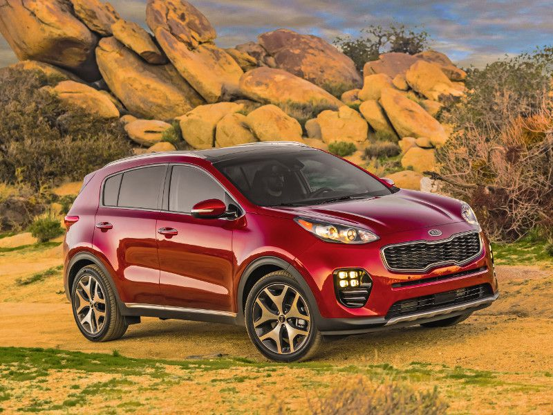 2019 Kia Sportage in mountains