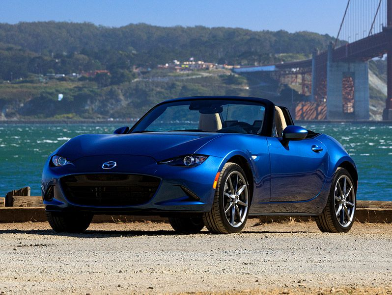 2019 Mazda MX 5 Miata hero golden gate