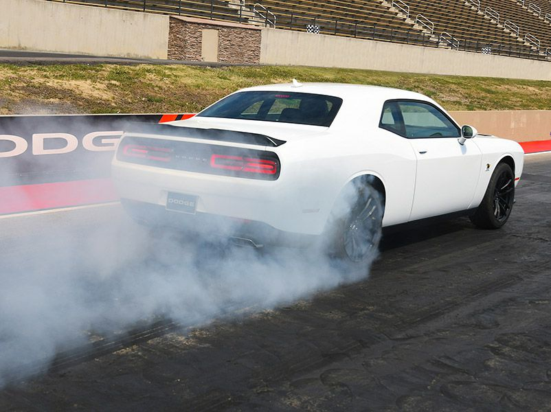 2019 Dodge Challenger Scat Pack 1320 burnout drag strip