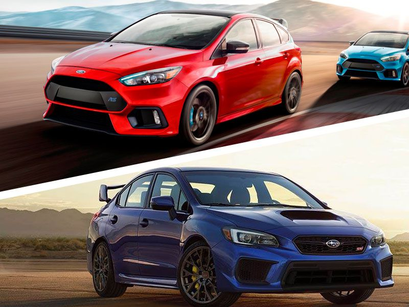 2018 Ford Focus RS vs. 2018 Subaru WRX STI: Which Is Best?