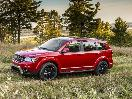 2019 Dodge Journey red driving