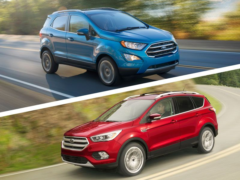 2018 Ford EcoSport vs Ford Escape