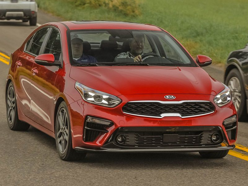 2019 Kia Forte Red Driving Front JZ