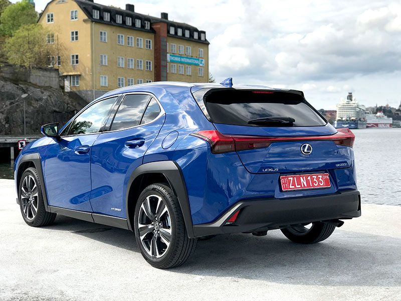 2019 Lexus UX 250h exterior rear angle by Carrie Kim