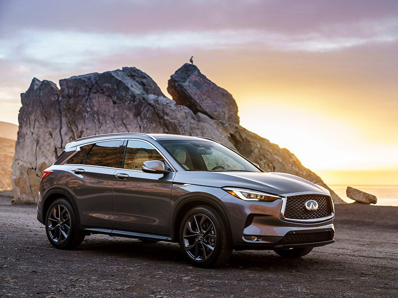 2019 INFINITI QX50 profile sunset