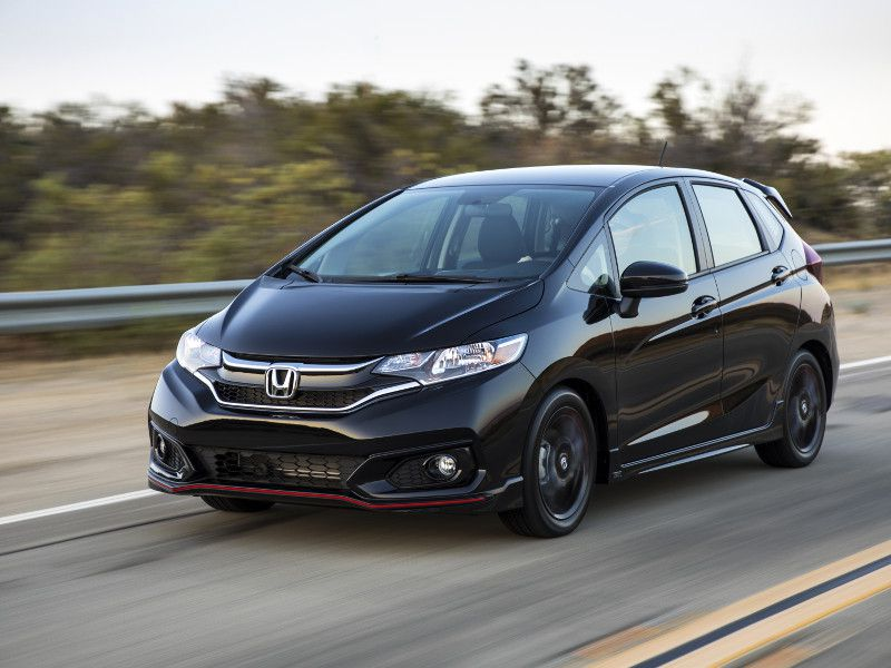 2019 Honda Fit black driving
