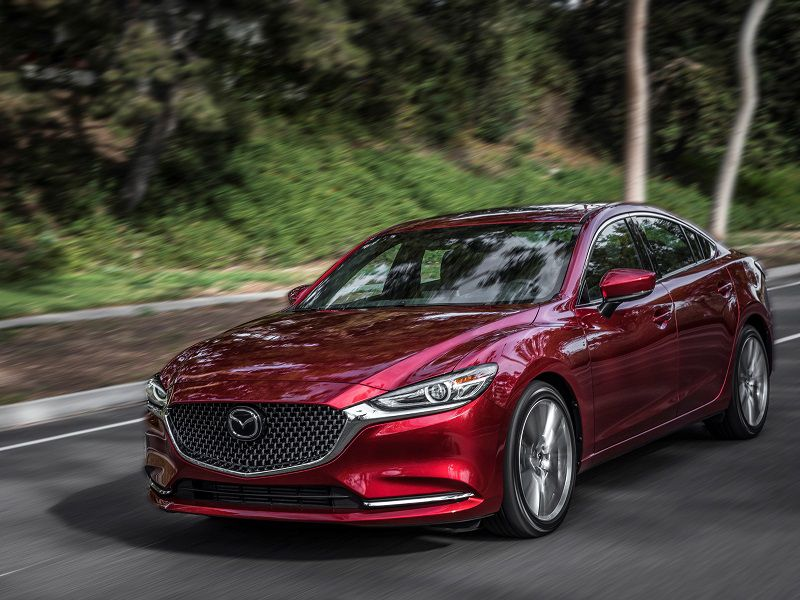 2019 Mazda Mazda6 Red Driving Front Quarter