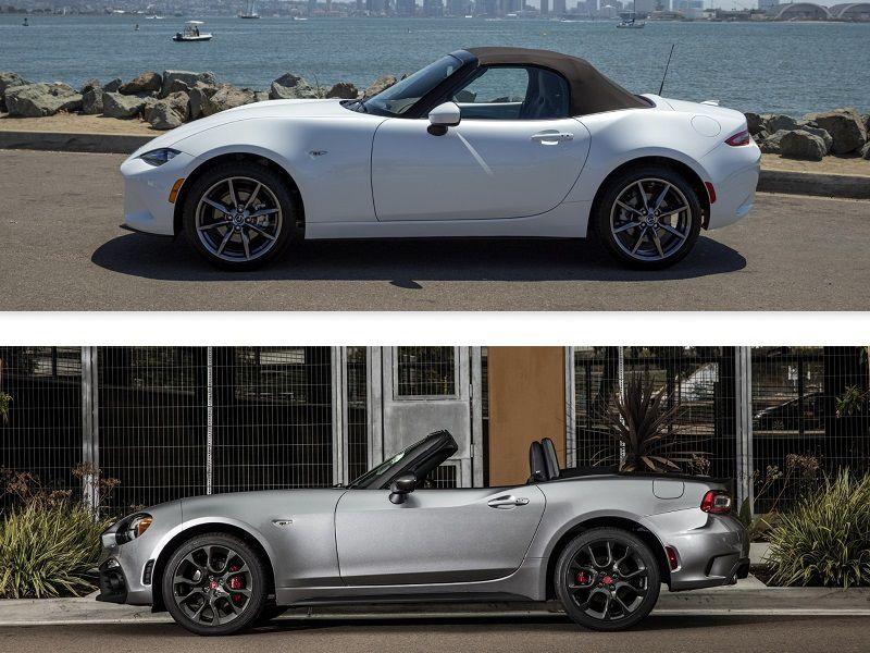 2019 Mazda MX-5 vs  2019 Fiat 124 Spider: Which is Best? | Autobytel com