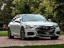 2019 Audi A6 Light Grey Parked Front Quarter