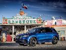 2020 Mercedes Benz GLE Blue Parked Front Three Quarter