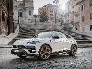 2019 Lamborghini Urus White Front Three Quarter Spanish Steps