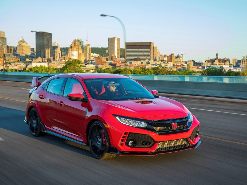 2019 Honda Civic Type R Red Front Three Quarter
