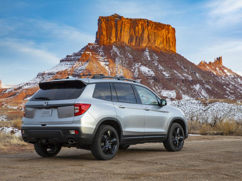 2019 Honda Passport rear view silver