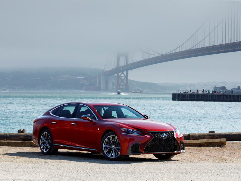 2019 Lexus LS500 Red Front Three Quarter