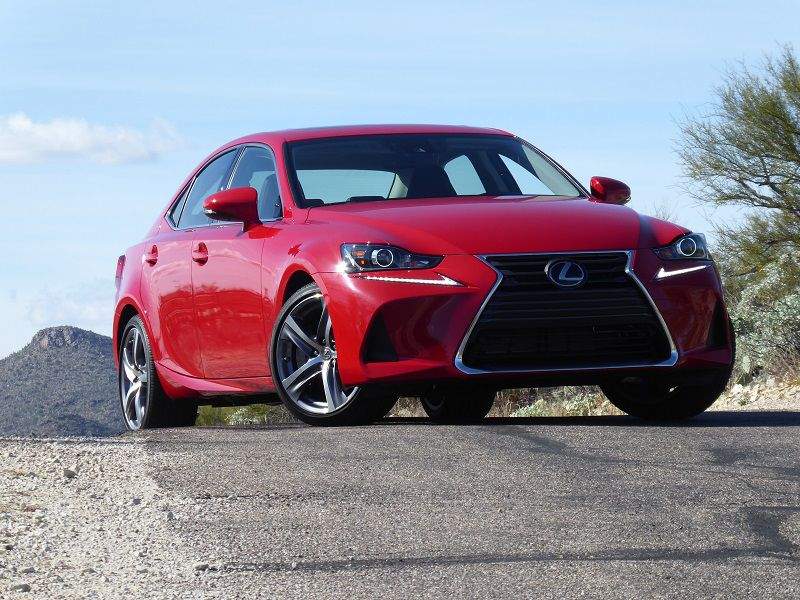 2019 Lexus IS 300 Red Front Three Quarter RS