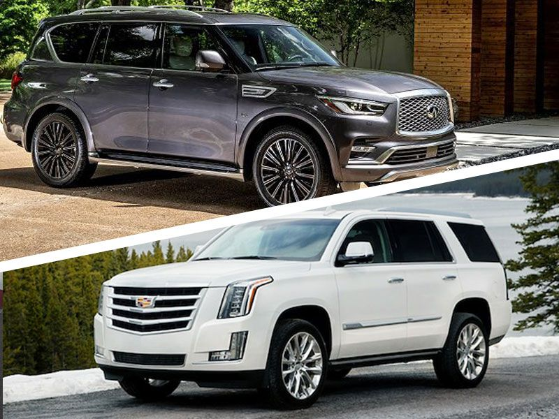 2019 Cadillac Escalade Vs 2019 Infiniti Qx80 Which Is Best