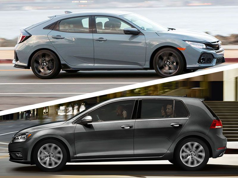 2019 VW Golf vs Honda Civic1