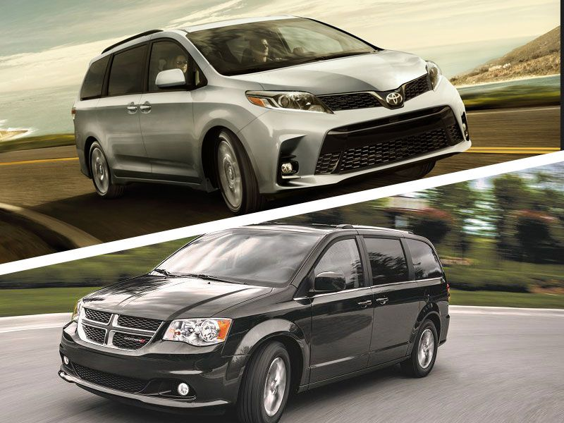 2019 Toyota Sienna vs Dodge Grand Caravan