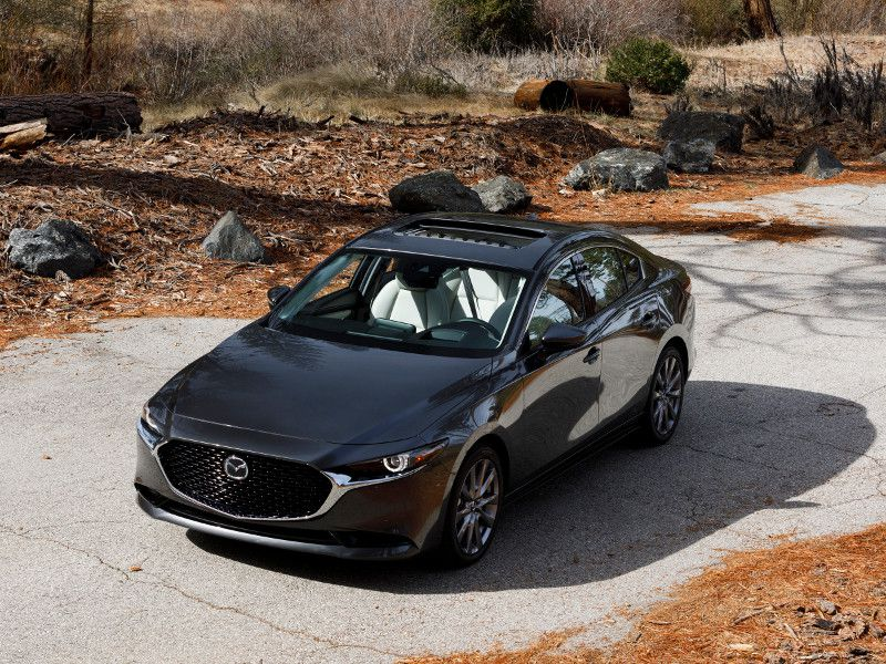 2019 Mazda3 Sedan parked sunroof