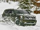 2020 Kia Telluride Green Off Road Snow