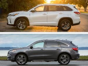2019 Acura MDX Sport Hybrid vs 2019 Toyota Highlander Hybrid: Which is Best?