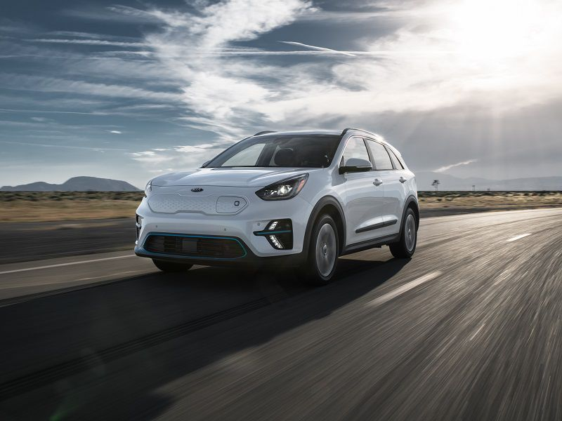 2019 Kia Niro EV White Front Three Quarter