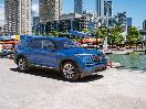 2020 Ford Explorer blue parked