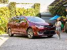 2019 Chrysler Pacifica Limited red parked