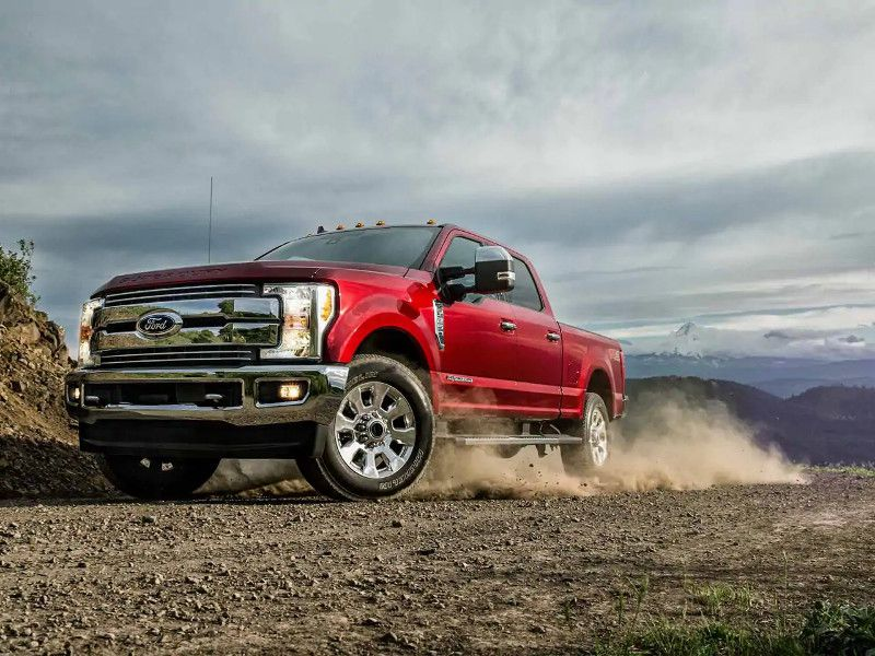 2019 Ford F 250 Lariat red off road