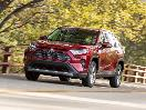 2019 Toyota RAV4 Limited Hybrid red driving
