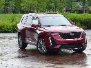 2020 Cadillac XT6 Burgundy Front Three Quarter Rain RS