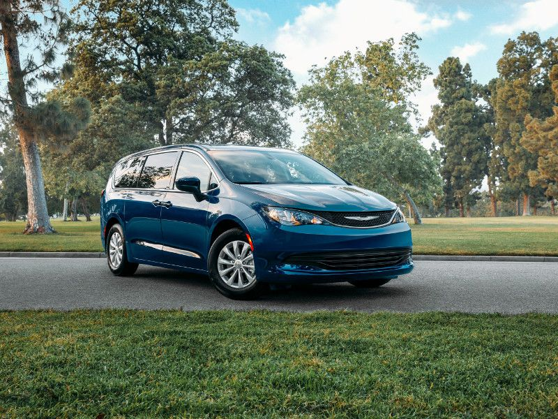 2020 Chrysler Voyager blue parked