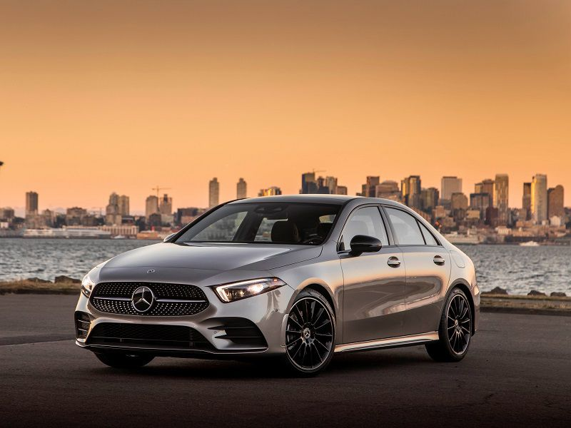 2020 Mercedes Benz A220 Silver Front Three Quarter