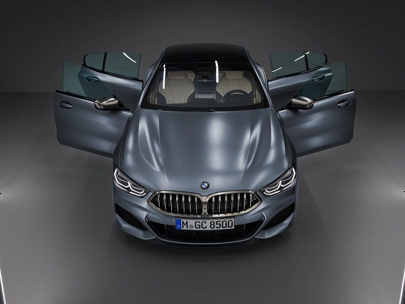 2020 BMW 8 Series Gran Coupe Top Front Doors Open
