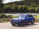 2020 Mercedes Benz GLC 300 4MATIC SUV blue parked