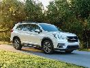 2020 Subaru Ascent White Front Three Quarter