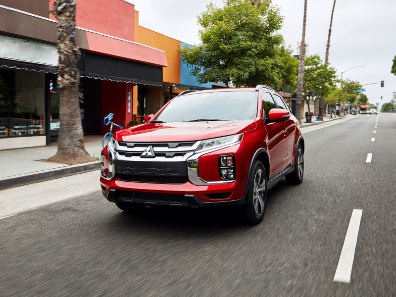 2020 Mitsubishi Outlander Sport red driving